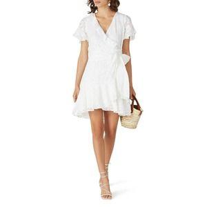 Tanya Taylor Floral Bianka Ruffled Wrap Dress 4